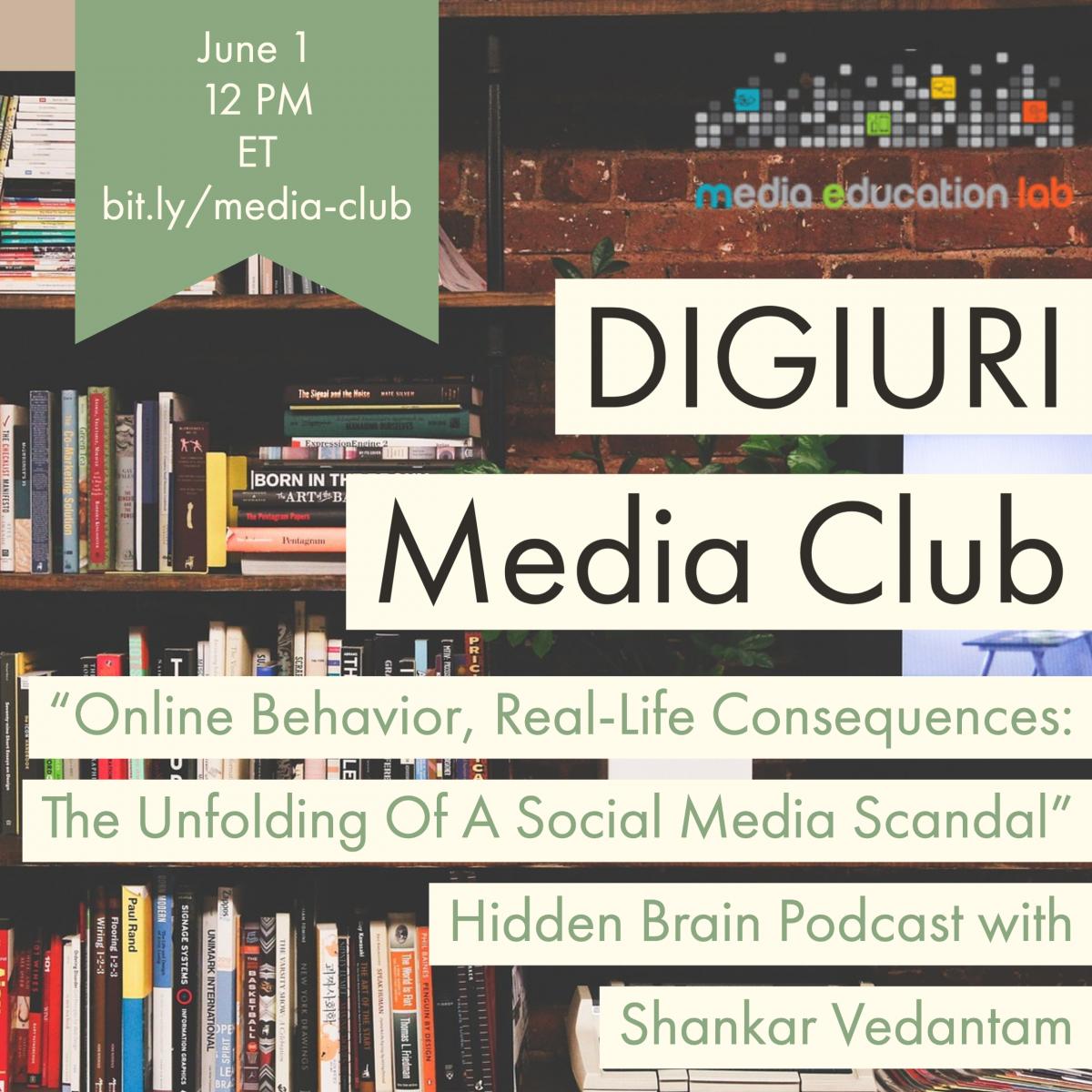 Graphic of June 1 Media Club promo