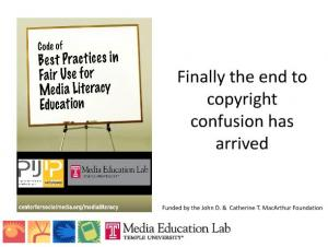 powerpoint slides on copyright and fair use media education lab